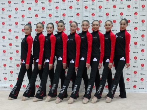 新体操日本ナショナル選抜団体チーム フェアリー ジャパン POLAのメンバーの皆さん