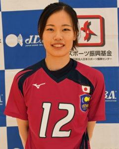 やまもと なさ選手の写真。一般財団法人日本ドッジボール協会からの提供。