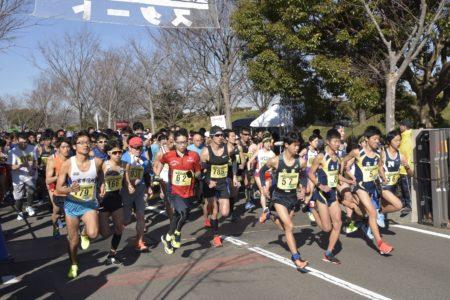 第17回いちのみやタワーパークマラソンのスタート地点の写真。